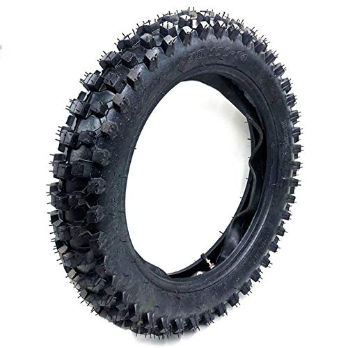 AGiao Motorcycle Accessories off Road Pneumatici 90/100-14 con Inner Tube 90/100-14 for Lo Sporco Pit Bike Motocross 14 Pollici Ruota Posteriore Easy to Install