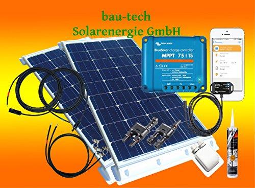 bau-tech Solarenergie 200Watt Wohnmobil Solaranlage mit Victron Laderegler und bluotooth smart Dongle GmbH