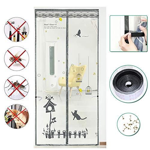 WXQY Mosquitera Magnética A Prueba Mosquito para Blanco, Cortina Malla Antimosquitos, Sin Perforar, Cierre Automático, para Pasillos/Puertas
