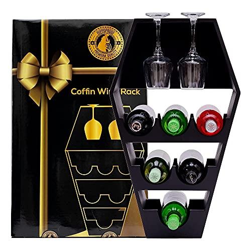 HippoProof Coffin Wine Rack