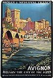 Plaque en tôle 30 x 20 cm Avignon The City of The Popes