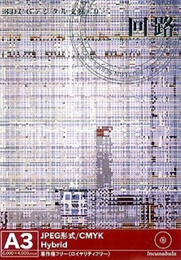 ロール床赤3DCGデジタル文様 9 「回路」