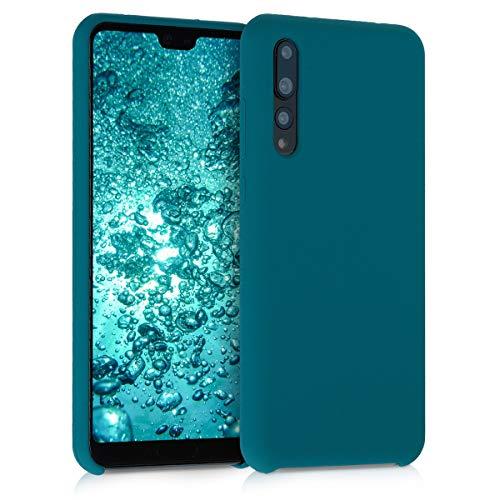 kwmobile Cover per Huawei P20 PRO - Cover Custodia in Silicone TPU - Back Case Protezione Cellulare Petrolio Matt