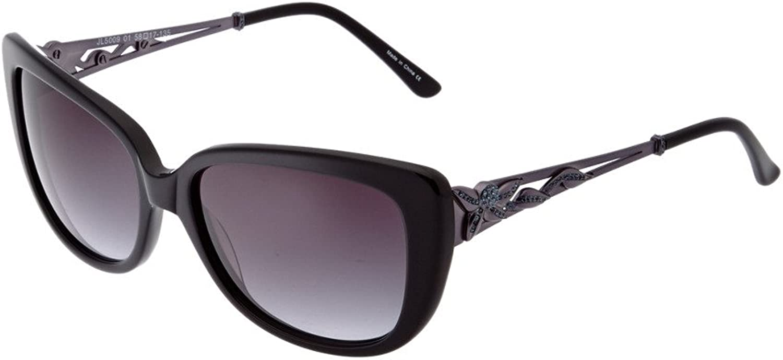 Judith Leiber Designer Sunglasses JL500901 in Onyx in NavyGradient Lens