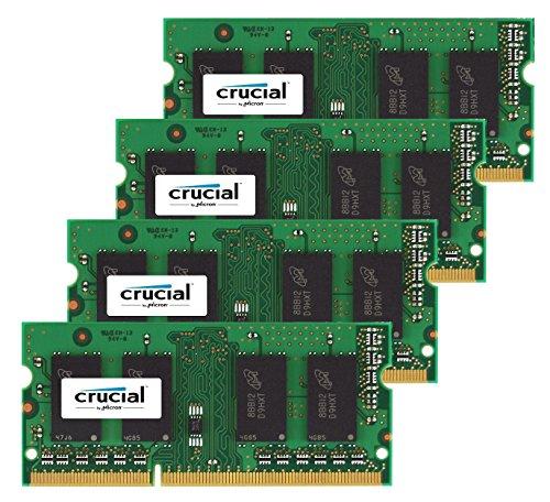 Kit de 32 GB Crucial (8GBx4) DDR3 1866MHz 204 Pines de Apple actualización de la Memoria de Late 2015 iMac 27'DDR3 1867Mhz PC3-14900 SODIMM 2Rx8 CL13 1.35v RAM