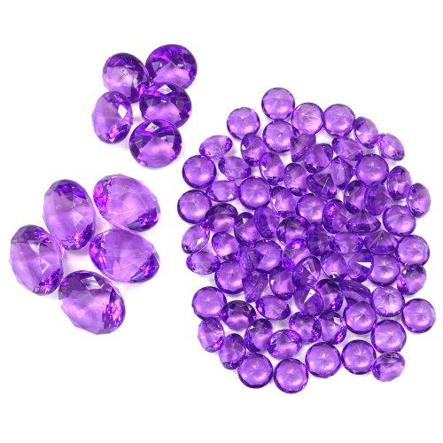 Koyal Wholesale Centerpiece Vase Filler Acrylic Diamonds, Purple