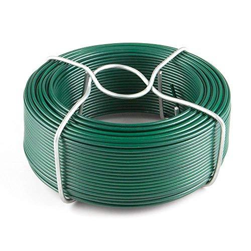 Amagabeli 6 X 50M Cavo Metallico Rivestito di Plastica - 0.95mm - Filo Ferro Plastificato Verde WR8