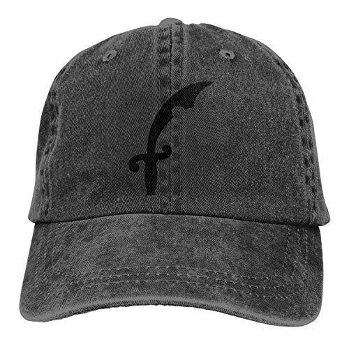 REAL PEAZ Gorra de béisbol de algodón lavado, sombrero de sol clásico deportivo informal, color sólido ajustable, ligero, transpirable, gorra de espada de pirata suave ajustable