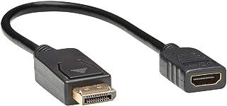 محول فيديو Tripp Lite DisplayPort إلى HDMI ، محول فيديو 1080p 60Hz DP إلى HDMI ، محول شاشة غير فعال (M/F)، HDCP، 1 قدم (P1...