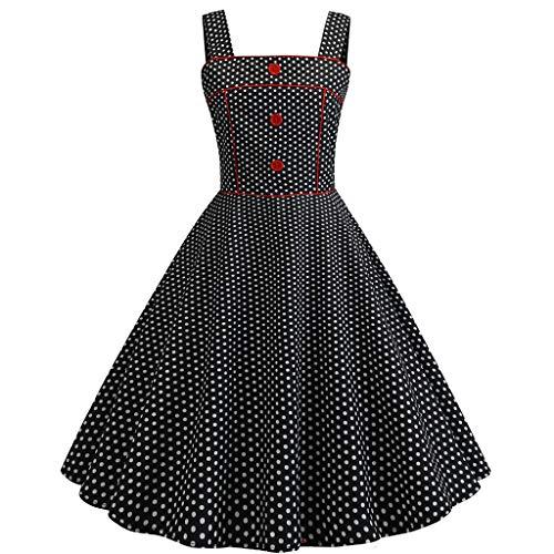 AIni Damen Vintage ÄRmelloses Elegant 50er Jahre Petticoat Kleider Gepunkte Rockabilly Kleider Cocktailkleider Partykleid Ballkleid Festkleid | Bekleidung > Kleider > Petticoat Kleider | AIni