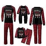 Alueeu Conjunto de Pijamas Navideños Top+Pantalones Invierno Otoño Mamá Papá Niños Bebé Manga Larga Homewear Pijamas Navidenos Amigas riou
