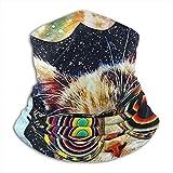 LAOLUCKY - Máscara de gato espacial con gafas, media máscara...