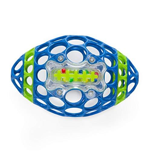 Oball - Grab & Rattle Football Farbe blau/grün