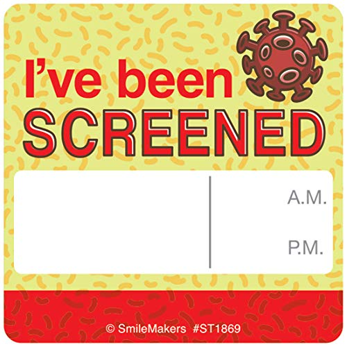 I've Been Screened Stickers - Coronavirus COVID-19 Supplies - 200 Per Pack