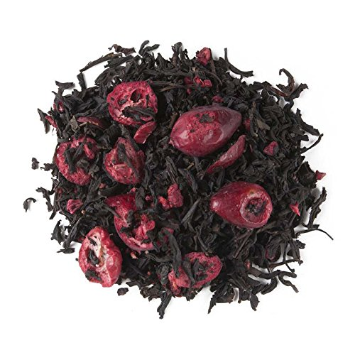 Aromas de Té - Té Negro Frutos Rojos a Granel con Frambuesa Arándano Antioxidante Diurético sabor suave y dulce, 100 gr