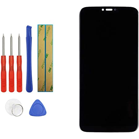 """Upplus Replacement Screen Compatible with Motorola Moto G7 Power 6.2"""" Replacement Touch Screen LCD Display Assembly + Adhesive with Toolkit (Black)"""