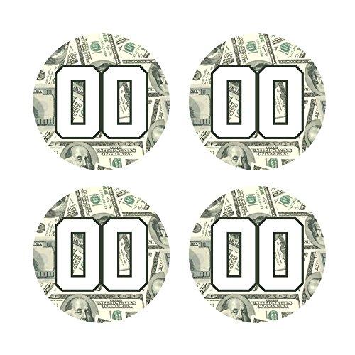 定制棒球拍把手贴花贴纸集- 100美元钞票贴花