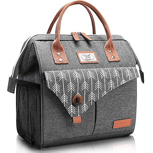 Lekesky 10L Insulated Lunch Bag for Women for Work Lunch Tote, G