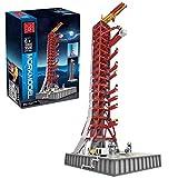 PeleusTech DIY Apollo Launch Pad Building Kit Launch Tower Compatible with Lego Ideas NASA Apollo Saturn V 21309 - 3586pcs