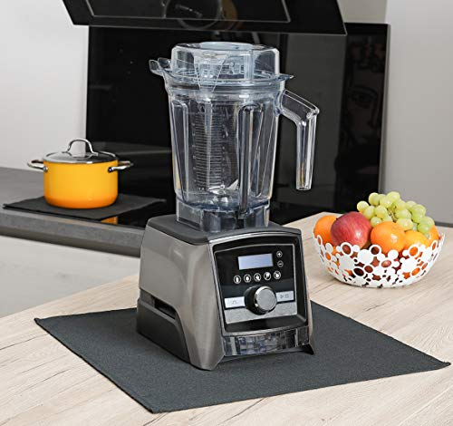 FireMat Black Edition 60x70cm - Die Brandschutz- und Sicherheitsunterlage, Bescheinigt nach DIN EN ISO 11925-2, geeignet für Kaffeemaschinen, Induktionsherd (Hitzebeständig bis 300 Grad)