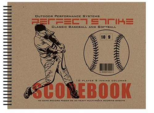 Perfect Strike Baseball SCOREBOOK with Rules and Scoring Instructions : Heavy-Duty. Great for Baseball and Softball.