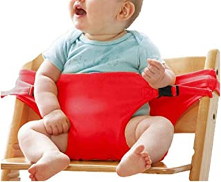 Beautiful Portable Toddler Chair Harness,Washable Travel High Chair Booster Baby Seat Strap (Color : Red),Colour:Yellow (C...