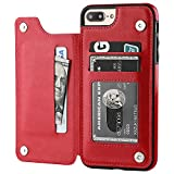 iPhone 7 Plus iPhone 8 Plus Wallet Case with Card Holder,OT ONETOP Premium PU...