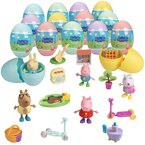 Peppa Pig Surprise Egg Mega-Value Pack - 15 Different Mystery Eggs Each with Toy Accessory or Figure Character Inside - Great Gift for Kids