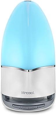 MRCOOL Lámpara de Noche con Altavoz Bluetooth, Lámpara de Tabla LED Luz Nocturna con Cambio de Color, Regalos para Mujeres Hombres Niños (M)