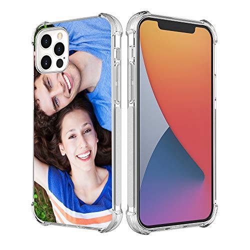 SHUMEI Funda Personalizar para Apple iPhone 12 Pro Max 6.7 pulgadas personalizado foto regalo absorción de golpes suave transparente iPhone 12 Pro TPU Cover DIY HD Picture