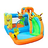 doctor dolphin Inflatable Bee Bounce House Water Slide Bouncy House for Kids Outdoor Outdoor Party with Air Blower