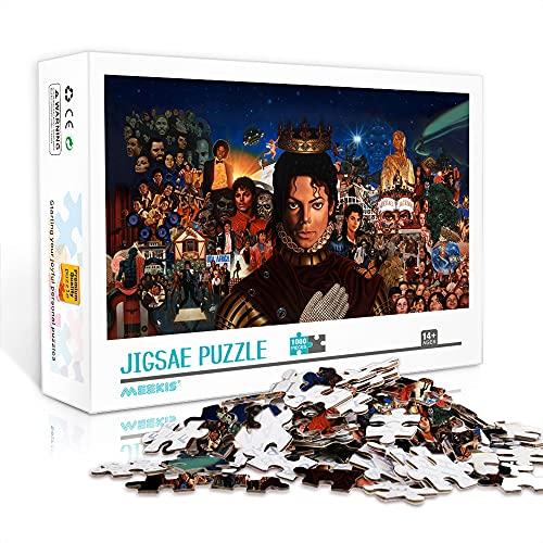 Puzzle de 500 piezas World star dancer michael jackson Star theme puzzle divertido juego de rompecabezas con personajes musicales de estrellas 52x38cm
