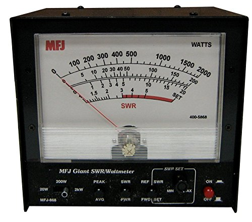 MFJ-868B WORLD'S LARGEST HF+ 6 M SWR/WATT METER 20-2000 WATT RANGES. Buy it now for 155.99