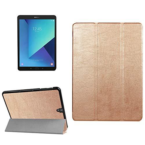 WEI RONGHUA Fundas de Tableta Samsung Galaxy Tab S3 9.7 Pulgadas T820 / T825 Custer Textura Horizontal Funda de Cuero con Tapa Plegable 3 Titular Accesorios (Color : Gold)