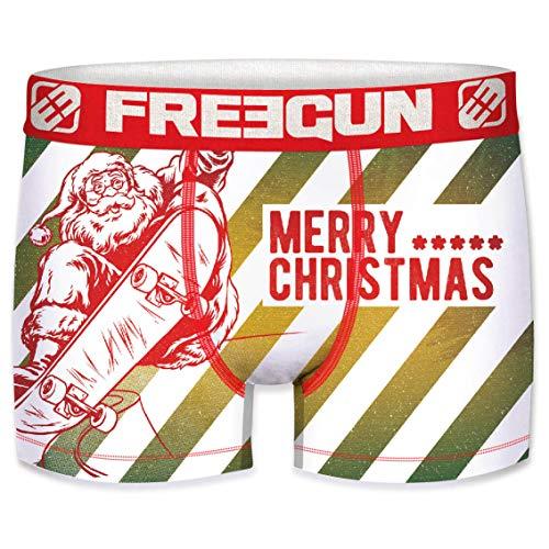 Freegun Herren-Boxershorts, Weihnachts-Kollektion Gr. XXL, Weihnachtsmann Skate