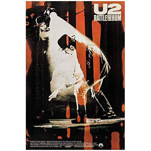 Mural Película Clásica Pintura Lienzo Imagen Póster Pared U2: Rattle And Hum (1988) -20X28In Sin Marco