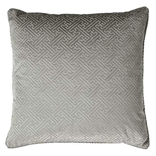 Paoletti Florence Cushion Cover, Silver, 55 x 55cm