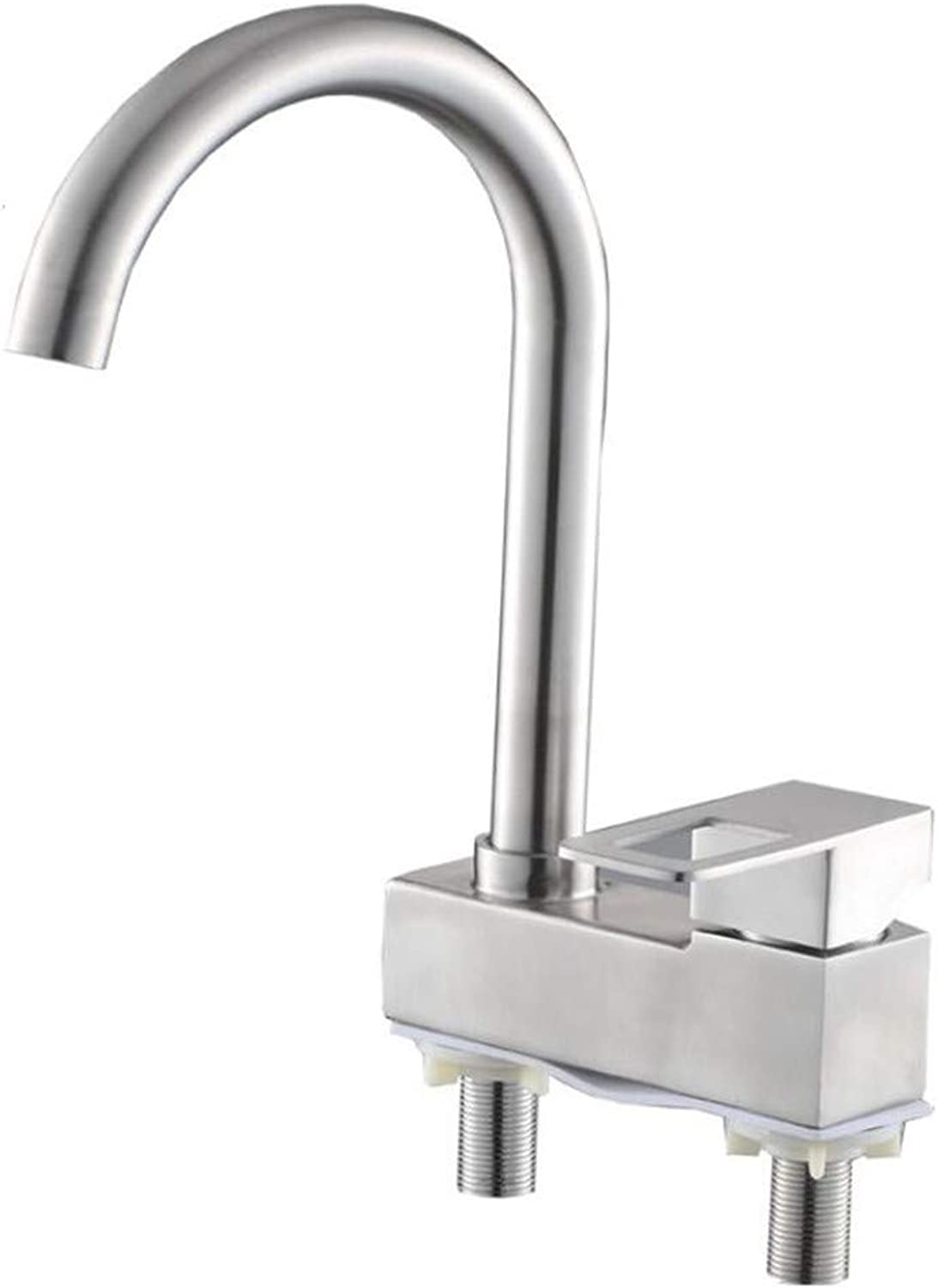 Faucet Mone Spout Basinstainless Steel Basin with Hot and Cold Faucet and Large Bend