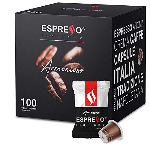 Espresso Italiano Pods / Capsules Compatible for Nespresso Original Machine - 100 pods… (Armonioso)