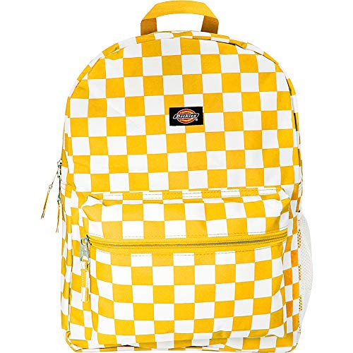 Dickies Student, Mustard/White Checkerboard