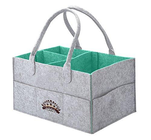 Diaper Caddy, Baby Diaper Organizer Tote - Boy Girl Nursery Cloth Caddie, Storage Basket Bin, 15.5'' x 10.5