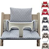 Blausberg Baby - coussins set (enduit) pour chaise haute Stokke Tripp Trapp - réducteur de siège - coussins d'assise - gris...