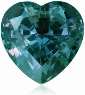 Mysticdrop 0.113-0.137 Cts of 3.0x3.0 mm AAA Heart Shape Cut Lab Created Alexandrite (1 pc) Loose Gemstone