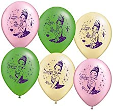 Pioneer Party Group Assorted Princess and the Frog Balloons - 6 ct