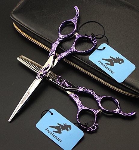 Tijeras del corte del pelo, tijeras de peluquería Kits Kit, pelo profesional de corte de tijera Conjunto japonés acero inoxidable multi-uso con la lámpara y Sharp para los hombres de las mujeres del