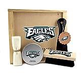 NFL Philadelphia Eagles Premium Shoe Care Gentlemen's Kit with Keepsake Wooden Box