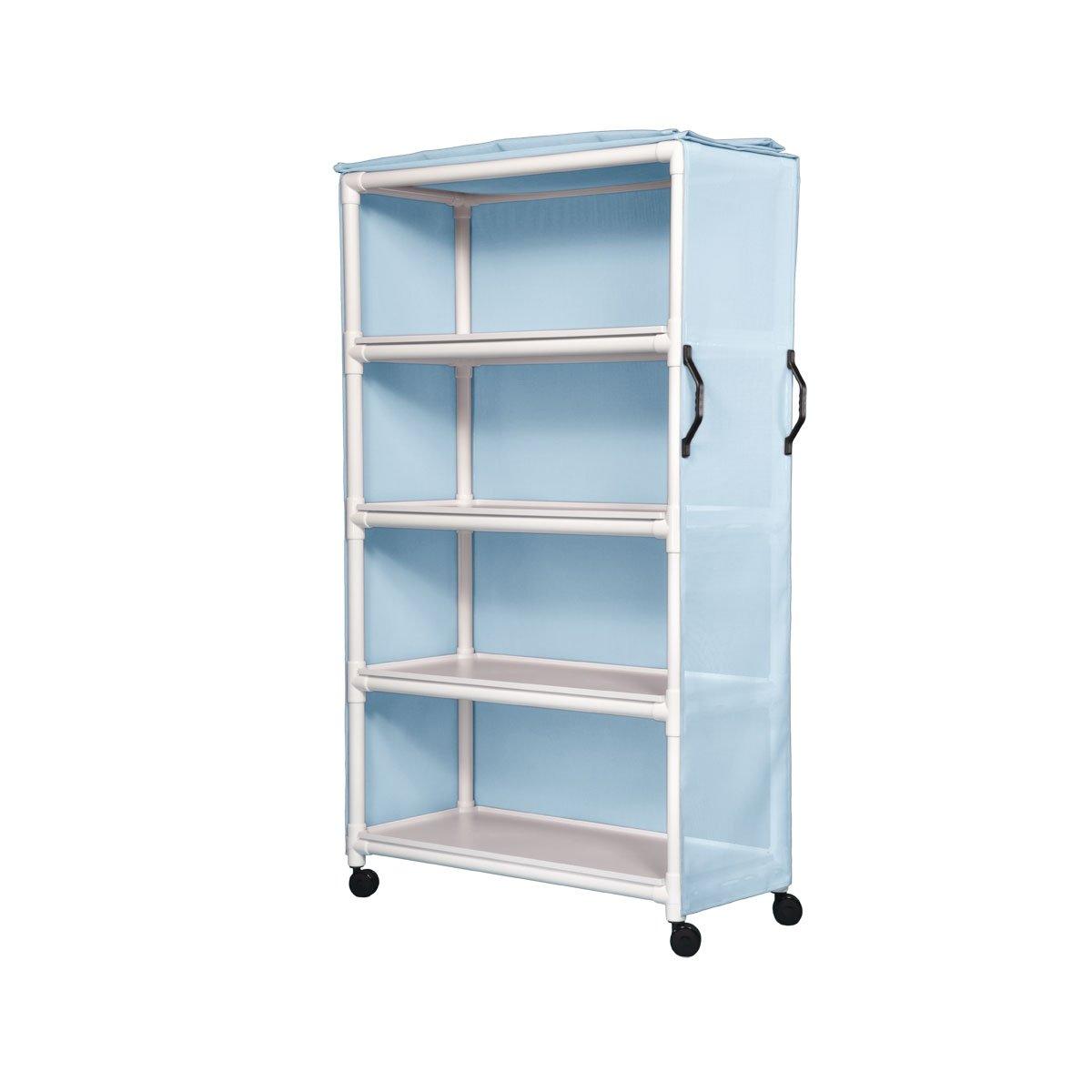 Excellent Std Line Linen Cart - Four 45X20 Sure Blue Light Colorado Springs Mall Chek Shelves