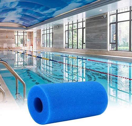 Esponja de filtro tipo A, espuma para filtro de piscina, cartuchos de filtro reutilizables, para esponja de filtro Intex tipo A (12 unidades)