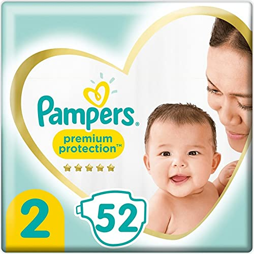 Pampers Premium Protection Couches Taille 2, Le Pack de 52 Couches