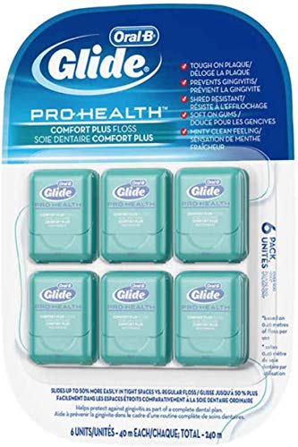 Oral-B Glide Pro Health Comfort Plus Floss 40m each 240m total 6 Pack